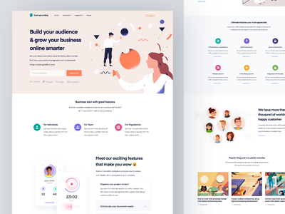 Digital Agency Landing Page sourabh branding illustration art app creative minimal layout web website webdesign ui ux user typography logo flat responsive template theme psd react next html css bootstrap landing page bundle home page single digital marketing product business agency corporate