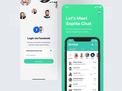 Onboarding screen animation onboarding login signin signup ios android mobile messaging app launching gif animation startup after effects sourabh iphone x design intro motion splash screen animation micro interaction share photo location ui ux uiux typography logo flat interface experience illustration modern minimal