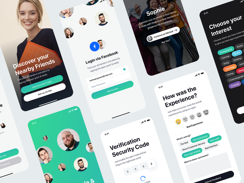 Messaging app ui kit on Sale! web website webdesign ui ux user kit social media network sourabh minimal clean modern message conversation text iphone x ios android interface experience illustration screen blank application app mobile chat profile design behance case study