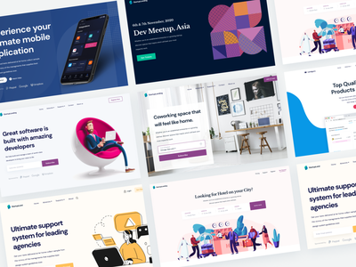 Introducing Startup Landing! design figma download freebie gatsby react free branding typography web design app user experience user interface ux ui saas page landing website web
