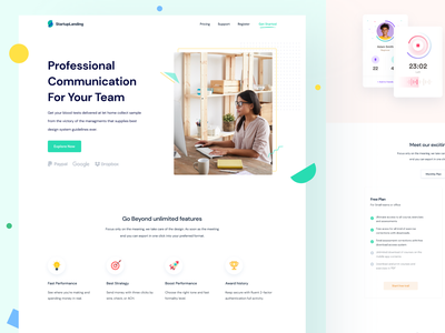 Web Application Landing page typography user interface product design startup page branding saas agency web design website minimal design home landing user experience ux ui application app web