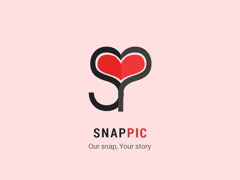 Snap Pic event picture photo snap p s love heart simple pic red logo