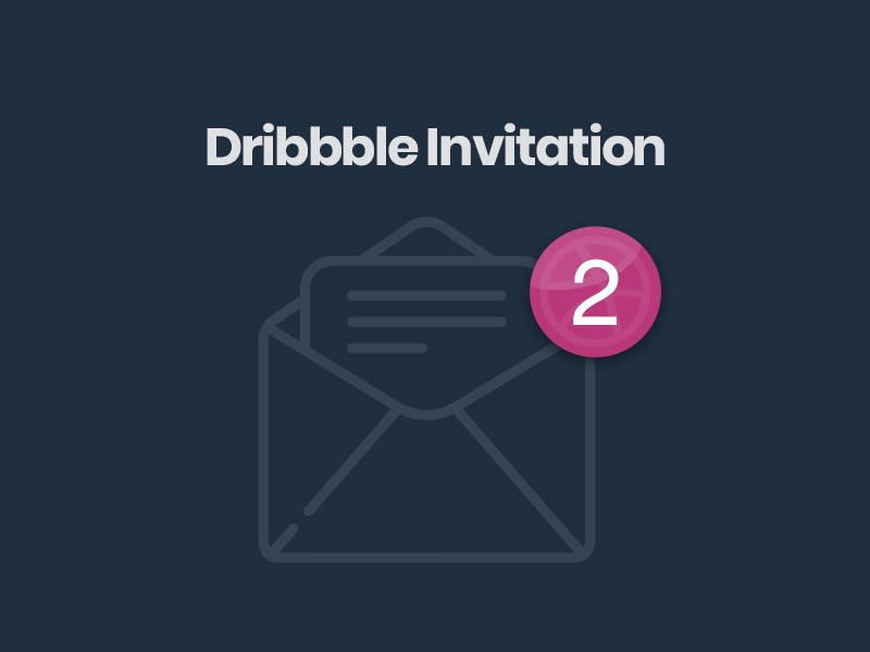 Dribbble invitation invitation notification bubble pink letter mail message two invite dribbble