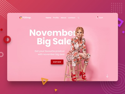 E-commerce Header Concept