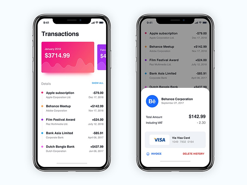 Payment app mobile design wallet pay transaction iphonex ios ux ui application app payment