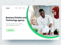 Business website header