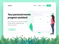 Event assistant website header