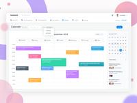 Calendar task management dashboard