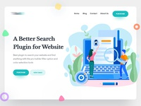Search plugin website header