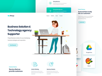 Business website landing page