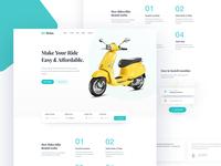 Motor Bike rental website home page
