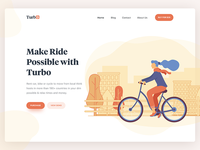 Bike website landing page header