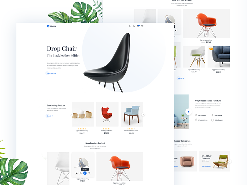 Furniture Website Home page sourabh interior wood table ecommerce e-commerce online shop typography logo flat interaction modern minimal clean web website webdesign interface experience interaction ui ux user slide slider header landing page furniture sofa chair bed homepage home design