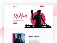 Dj website home page