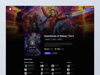 Online movie stream site details page