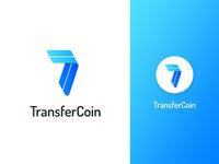 TransferCoin logo concept