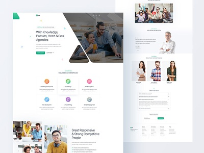 Agency Landing page react next html css template theme psd typography logo flat minimal clean interaction modern animation web website webdesign interface experience bootstrap ui ux user people team meeting landing page bundle homepage home business agency corporate