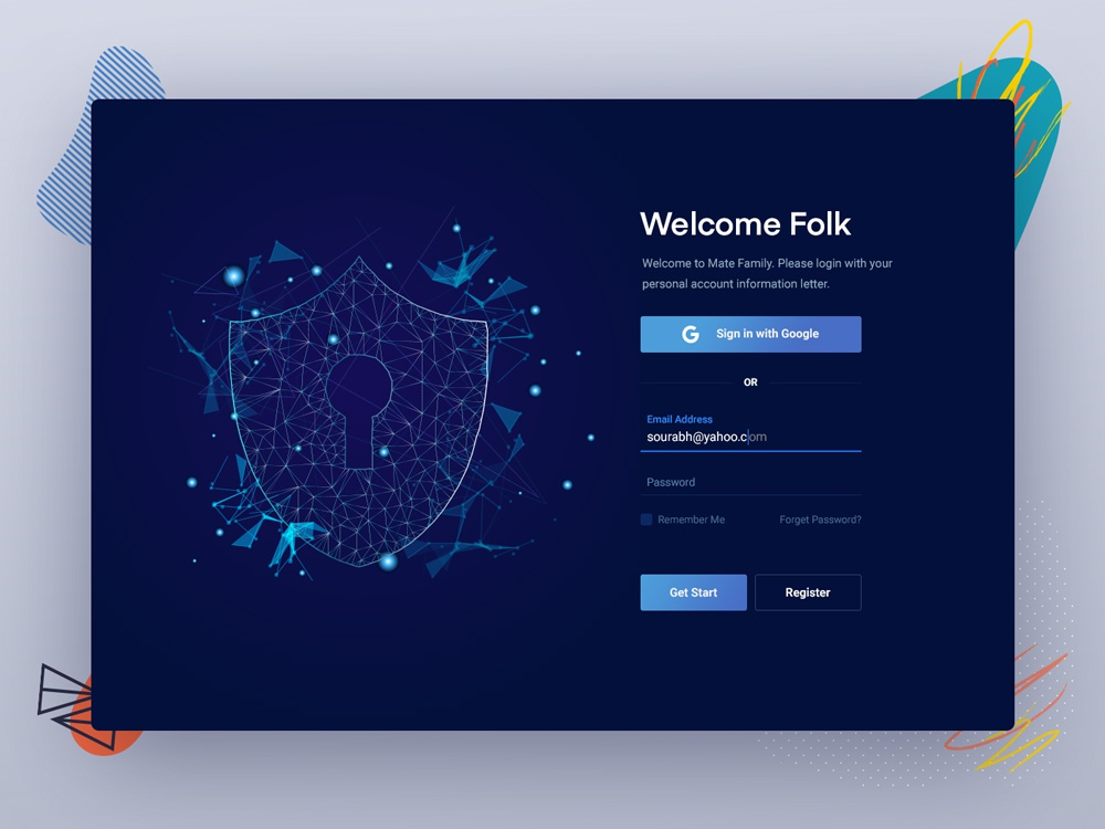 Crypto Currency Website login page by Sourabh Barua on Dribbble