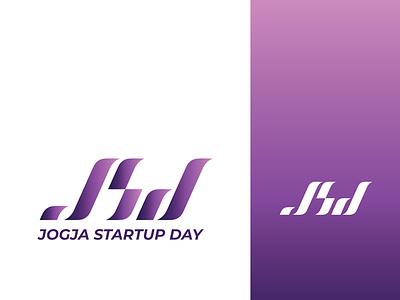 Logo Jogja Startup Day 2019 flat typography branding logo