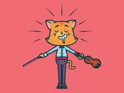 Hey diddle diddle... cat design art direction mascot character cartoon design cartoon character character design cartoon vector illustration