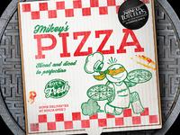 Ninja Turtles Pizza Box Illustration