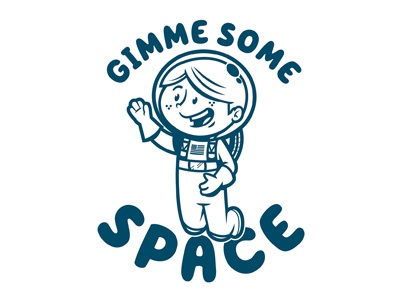 Gimme Space art direction line art space man spaceman illustration vector character design space