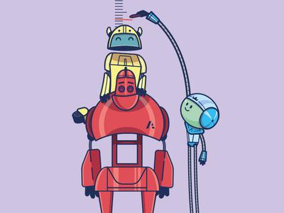 Robot character design robots robot cartoon character vector illustration character design cartoon design cartoon