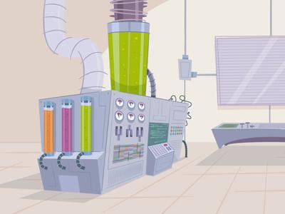 The Lab! background art background laboratory cartoon vector illustration