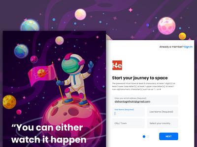Colorful Sign Up Page illustration components branding app design