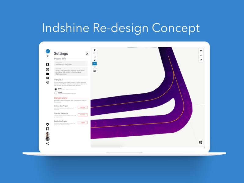 Indshine Redesign Concept Dishant Agnihotri web ux designer uiuxdesign ui product interaction platform drone dashboard business app design