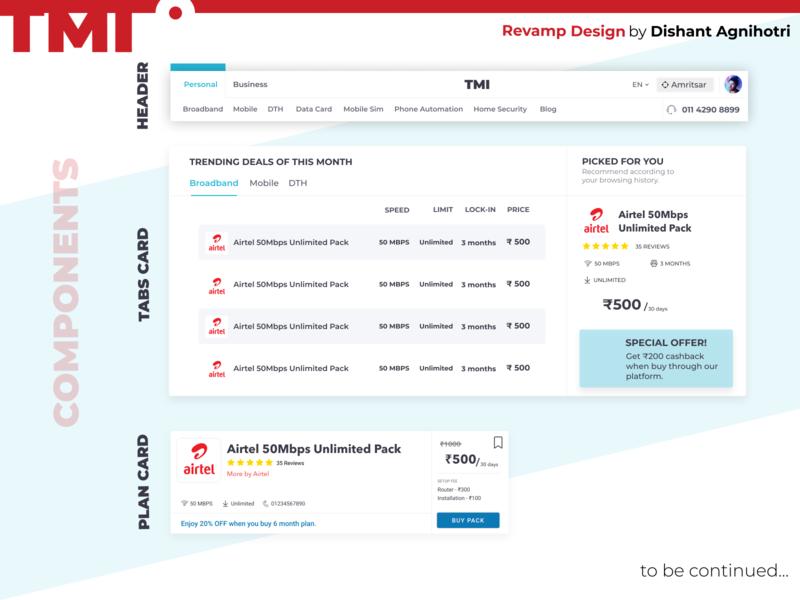Telecoms Supermarket India Components Design #1 web figma webdesign web design product header tabs components website