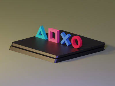 PlayStation Buttons 3d minimal clean design playstation 4 playstation blender3dart blender3d blender