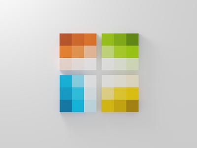 Microsoft - Color Palette design clean minimal 3d logo microsoft blender blender3d