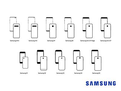 Samsung Devices logo illustraion samsung s10 icons mobile vector samsung galaxy design samsung