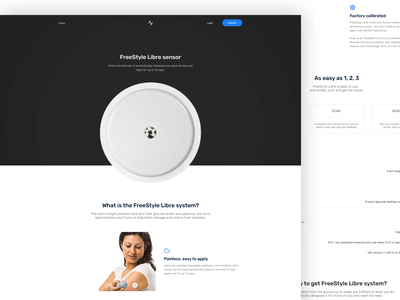 Product Landing page - Levels Health shaipers product page real product product design lanidng page design black  white landing website clear design landing page desktop web design