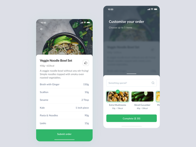 Food Delivery App • 3 Dribbble Invites veggies food app clear design ios mobile invite giveaway invites app design ios design app