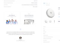 Product sensor page - Levels Health • 1 Dribbble Invite