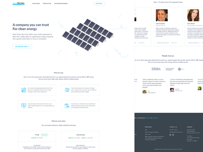 Product landing page - solarfarms. solar panel solar landing design landingpage desktop illustration website landing ui clear design