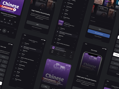 Streaming Podcast app. podcast app music app music podcast dark theme black design ios design app design ui