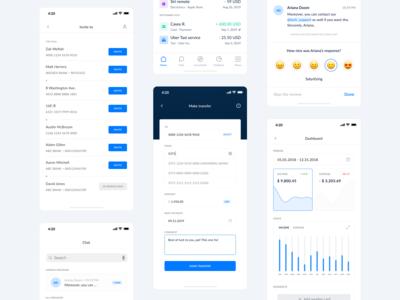 The Bank App - iOS design.
