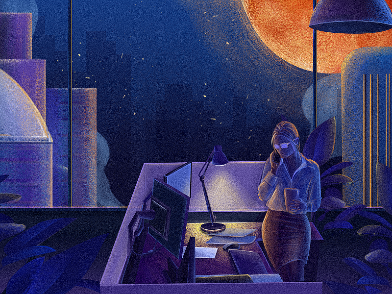 Before dawn-06-end ios style dribbble blue art color ui illustrations design illustration
