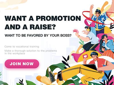 recruit banner photoshop style branding dribbble boy illustrations art vector design ui color illustration