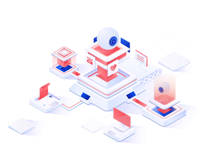 2.5D-science-red icon dribbble design branding red ios 2.5d art style illustrations ui color illustration