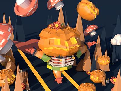 pumpkin-3d pumpkin c4d illustrations design illustration