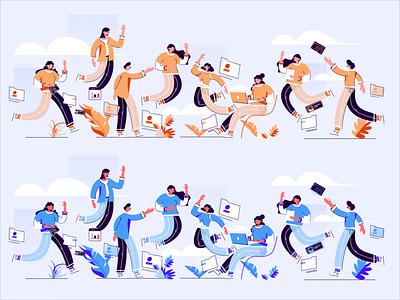 aifanfan  illustration try boy dribbble ui style art ux illustrations design color illustration