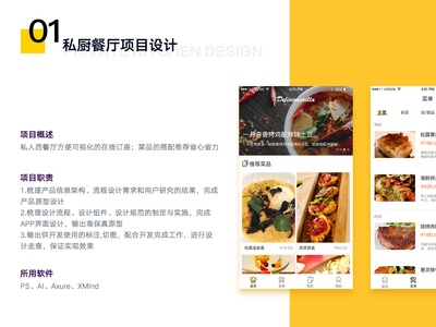 App Design of Restaurant 01