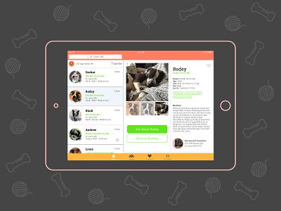 Daily UI 006 User Profile website visual design ui ui design ipad daily ui challenge daily ui dogs adoption