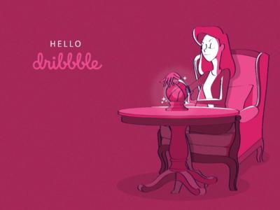 Hello dribbble! This psychic said 😄