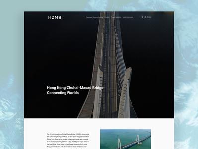 Hong Kong Zhuhai Macau Bridge Website Redesign - Homepage