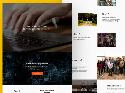 Fighting COVID-19 - Landing Page Design
